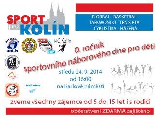 0. ročník sportovního náborového dne pro děti - Karlovo náměstí, středa 24.9.2014