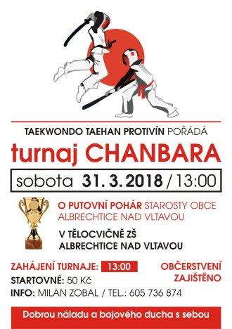 Pozvánka na turnaj v chanbaře 31.3.2018