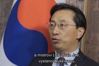 Pozdrav velvyslance Korejské republiky v Praze účastníkům turnaje BACK TO SPORT