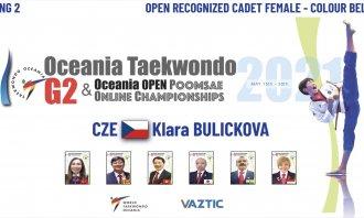 OCEANIA OPEN 2021 - zlato a bronz z mezinárodního turnaje